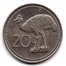 20 тойя 1981 Папуа-Новая Гвинея - 20 toya 1981 Papua New Guinea, из оборота