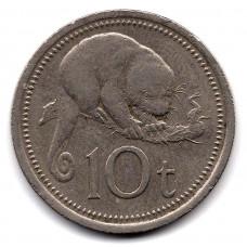 10 тойя 1976 Папуа-Новая Гвинея - 10 toya 1976 Papua New Guinea, из оборота