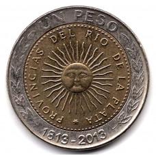 1 песо 2013 Аргентина - 1 peso 2013 Argentina, из оборота