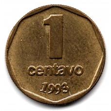 1 сентаво 1993 Аргентина - 1 centavo 1993 Argentina, из оборота