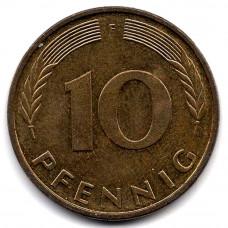 10 пфеннигов 1996 Германия - 10 pfennigs 1996 Germany, F, из оборота