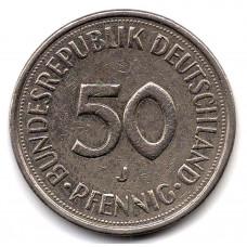 50 пфеннигов 1977 Германия - 50 pfennigs 1977 Germany, J, из оборота