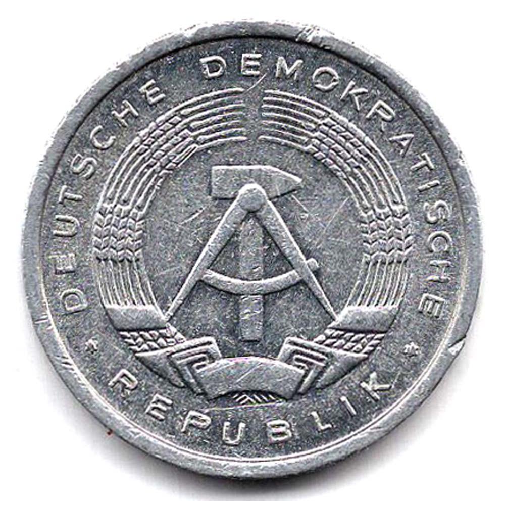 1 пфенниг 1986 Германия (ГДР) - 1 pfennig 1986 Germany, из оборота