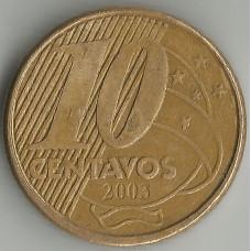 Монета 10 сентаво 2003 Бразилия