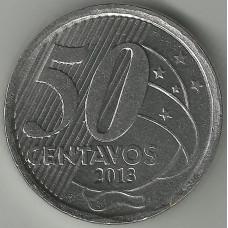 Монета 50 сентаво 2013 Бразилия