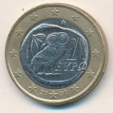 1 евро 2007 Греция - 1 euro 2007 Greece