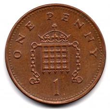 1 пенни 1993 Великобритания - 1 penny 1993 Great Britain, из оборота