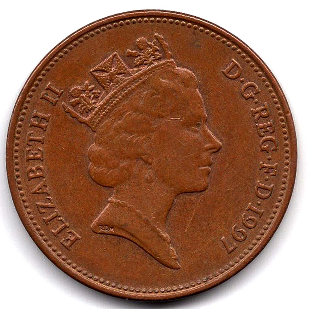 2 пенса 1997 Великобритания - 2 pence 1997 Great Britain, из оборота