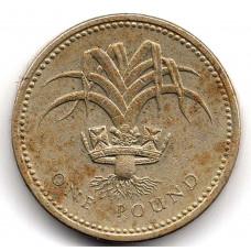 1 фунт 1985 Великобритания - 1 pound 1985 Great Britain, из оборота