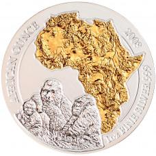 """Руанда 50 Франков 2008 """"Африканская Горилла"""", UNC"""