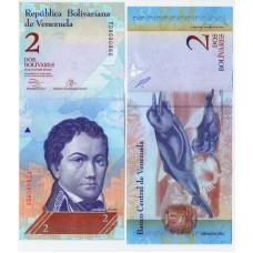Банкнота 2 боливар 2013 Венесуэла - 2 Bolivares 2013 Venezuela