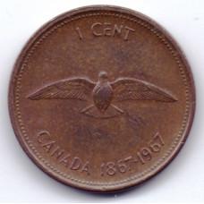 1 цент 1967 Канада - 1 cent 1967 Canada