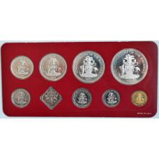 Набор монет 1977 Багамы, Proof (9 монет), серебро