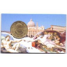 50 евроцентов 2010 года Ватикан 2010 Бенедикт XVI, в блистере