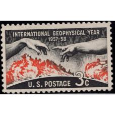 1958, Май. Почтовая марка США. Международный Геофизический Год. 3 цента