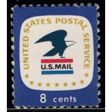 1971, Июль. Почтовая марка США. Эмблема почтовой службы США. 8 центов