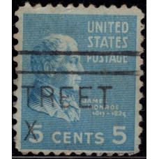 1938 -1939. Почтовая марка США. Президентский выпуск. 5 центов