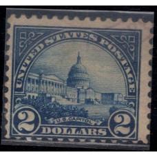 1923, Март. Почтовая марка США. Капитолий США. 2 доллара