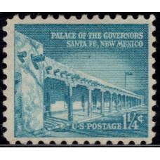 1954 -1973. Почтовая марка США. Вопрос свободы. 1¼ цента