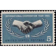 1965, Июнь. Почтовая марка США. 20-летие Организации Объединенных Наций. 5 центов