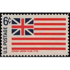1968. Почтовая марка США. Исторические флаги. Флаг Большого Союза. 6 центов