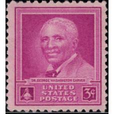 1948, Январь. Почтовая марка США. Доктор Джордж Вашингтон Карвер. 3 цента