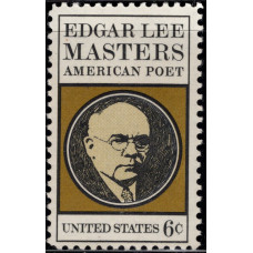 1970, Август. Почтовая марка США. Эдгар Ли Мастерс. 6 центов