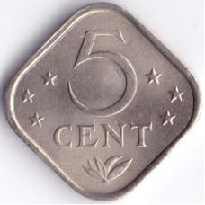 Монета 5 центов 1971 Нидерландские Антильские острова - 5 cent 1971 Netherlands Antilles