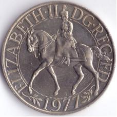 25 пенсов 1977 Великобритания - 25 pence 1977 Great Britain, из оборота