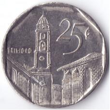 монета 25 сентаво 2006 Куба -  25 centavos 2006 Cuba