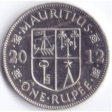 Монета 1 рупий 2012 Маврикий - 1 rupee 2012 Mauritius