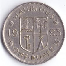 Монета 1 рупий 1993 Маврикий - 1 rupee 1993 Mauritius
