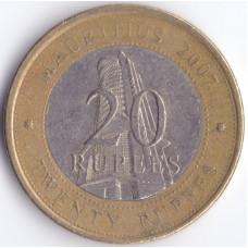 Монета 20 рупий 2007 Маврикий - 20 rupees 2007 Mauritius
