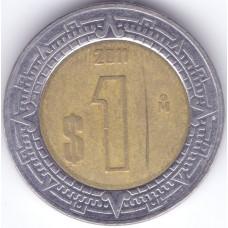 Монета 1 песо 2011 Мексика - 1 peso 2011 Mexico