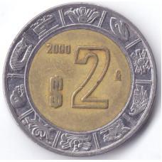 Монета 2 песо 2000 Мексика - 2 pesos 2000 Mexico