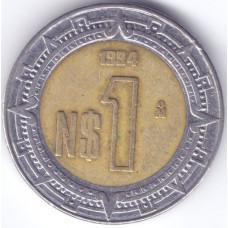 Монета 1 песо 1994 Мексика - 1 peso 1994 Mexico
