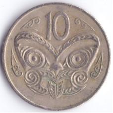 Монета 10 центов 1974 Новая Зеландия - 10 cents 1974 New Zealand