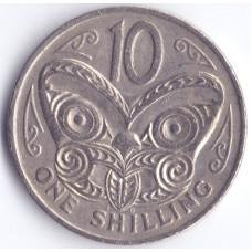 Монета 10 центов 1969 Новая Зеландия - 10 cents 1969 New Zealand
