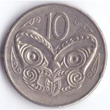 Монета 10 центов 1980 Новая Зеландия - 10 cents 1980 New Zealand