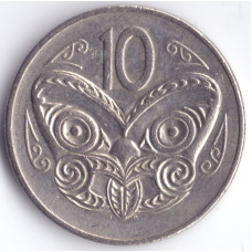 Монета 10 центов 1978 Новая Зеландия - 10 cents 1978 New Zealand
