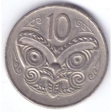 Монета 10 центов 1982 Новая Зеландия - 10 cents 1982 New Zealand