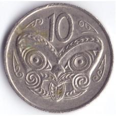 Монета 10 центов 1975 Новая Зеландия - 10 cents 1975 New Zealand