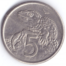 Монета 5 центов 1982 Новая Зеландия - 5 cents 1982 New Zealand