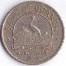 Монета 1 шиллинг 1976 Уганда - 1 shilling 1976 Uganda