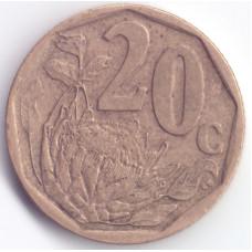 20 центов 2010 ЮАР - 20 cents 2010 South Africa (Ningizimu)