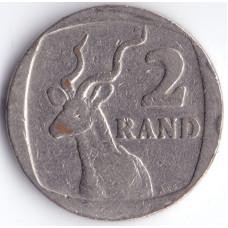 Монета 2 ранда 1989 ЮАР - 2 randa 1989 South Africa (Suid)