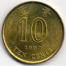 Монета 10 центов 1997 Гонконг - 10 cents 1997 Hong Kong