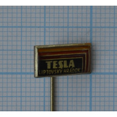 "Значок ""Tesla, Liptovsky Hradok"" №1"