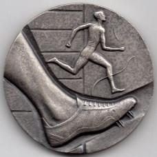 Медаль настольная - Бег, атлетика, 1972, sporrong. Швеция
