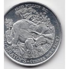 Медаль сувенирная - Triceratops, Трицератопс, динозавр
